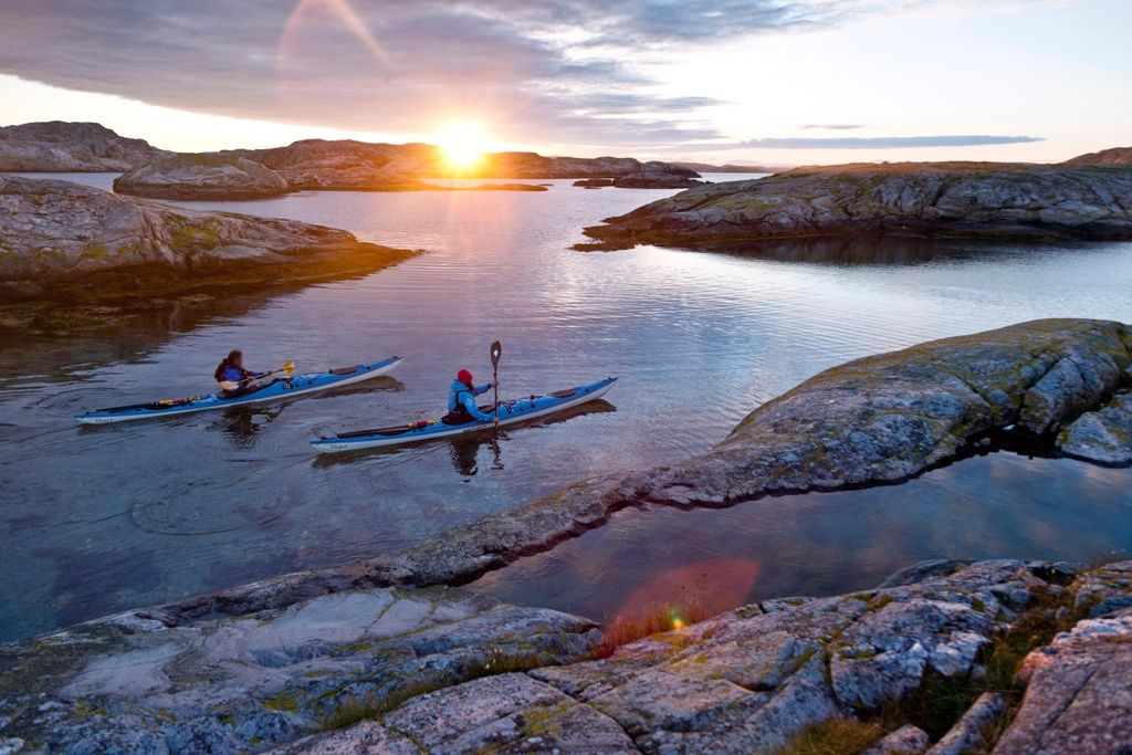 kayaking in lapland